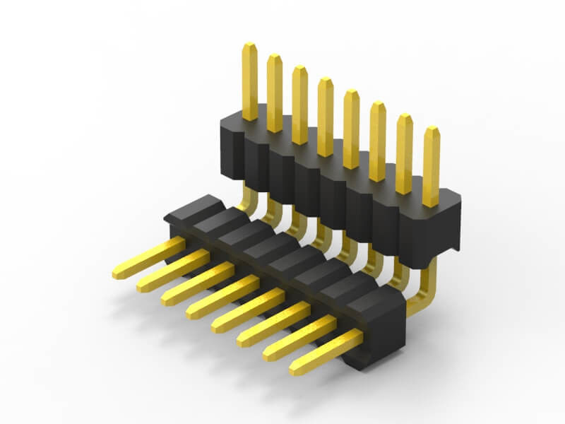 1.27mm pin header dual row double R/A PA9T plastic applied in smart home wholesales products