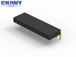 8 Pins 90° Female Header Connector 2.0 Mm Pitch Current Rating 2.0 AMP