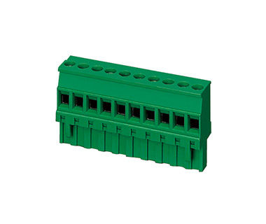 4000V Plug In Terminal Block Connector CPT 5.08mm Pitch 1*18P Green PA66 SN Plated