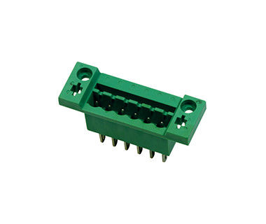 Durable 300V 18A Terminal Block Connector 1*06P PA66 SN Plated DIP With Flange